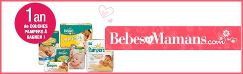 Bebes et Mamans - jeux concours : Pour recevoir le MAGAZINE digital et gagner 1 an de couches pour bébé